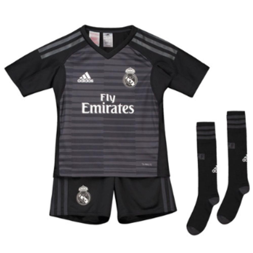 premium selection bf08c 7fa4d 2018-2019 Real Madrid Adidas Home Goalkeeper Mini Kit