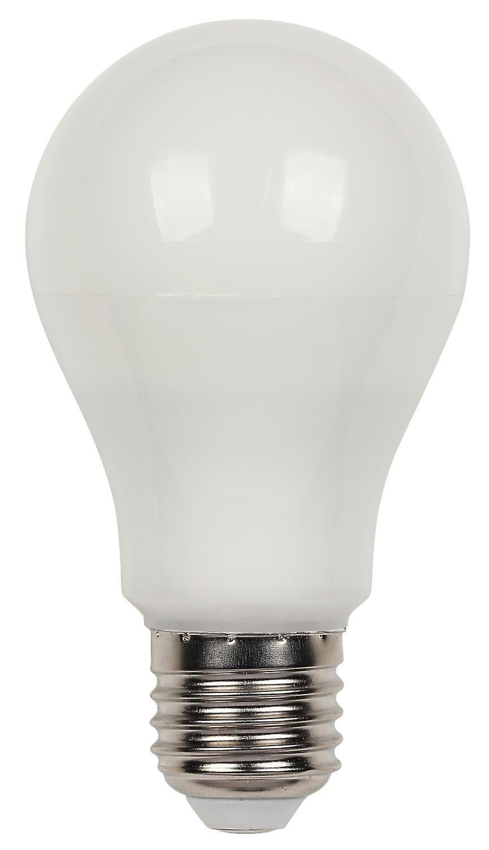 919d7646 LED lampe 9 watts E27 A60 kan dimmes varm hvit | Fruugo