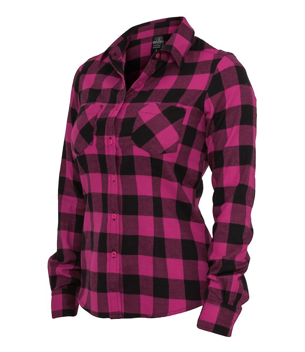 9a3c377a984b Urban classics damer rutig flanellskjorta | Fruugo
