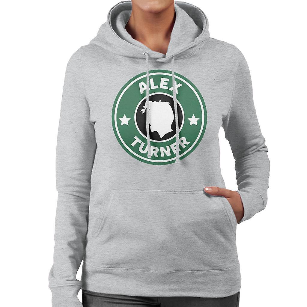 Alex Turner Starbucks Logo Womens Hooded Sweatshirt