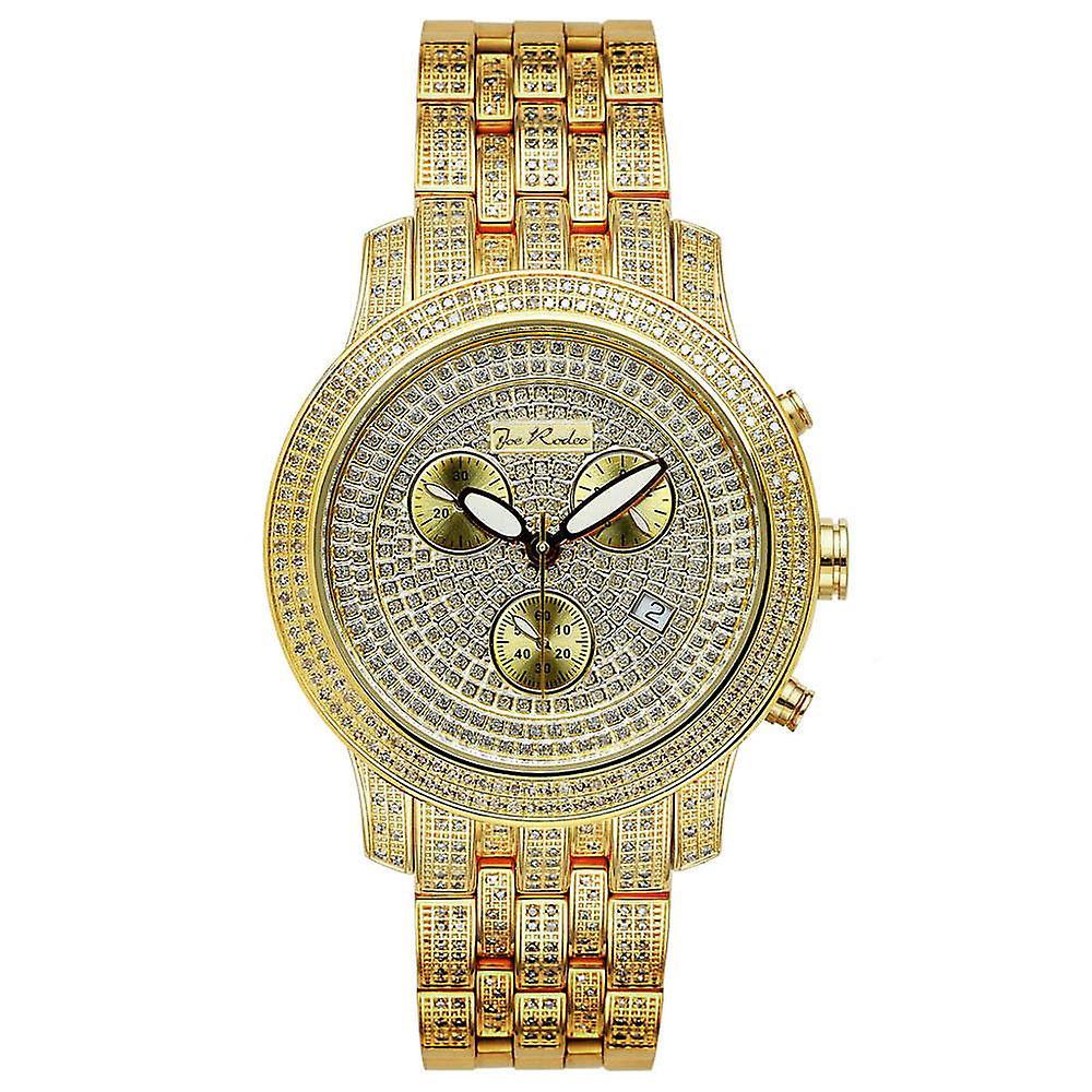 Joe Rodeo Diamant Herren Uhr Classic Gold 3 75 Ctw Fruugo