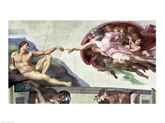Sistine Chapel Ceiling 1508 12 The Creation Of Adam 1511 12 Poster Print By Michelangelo Buonarroti 24 X 18