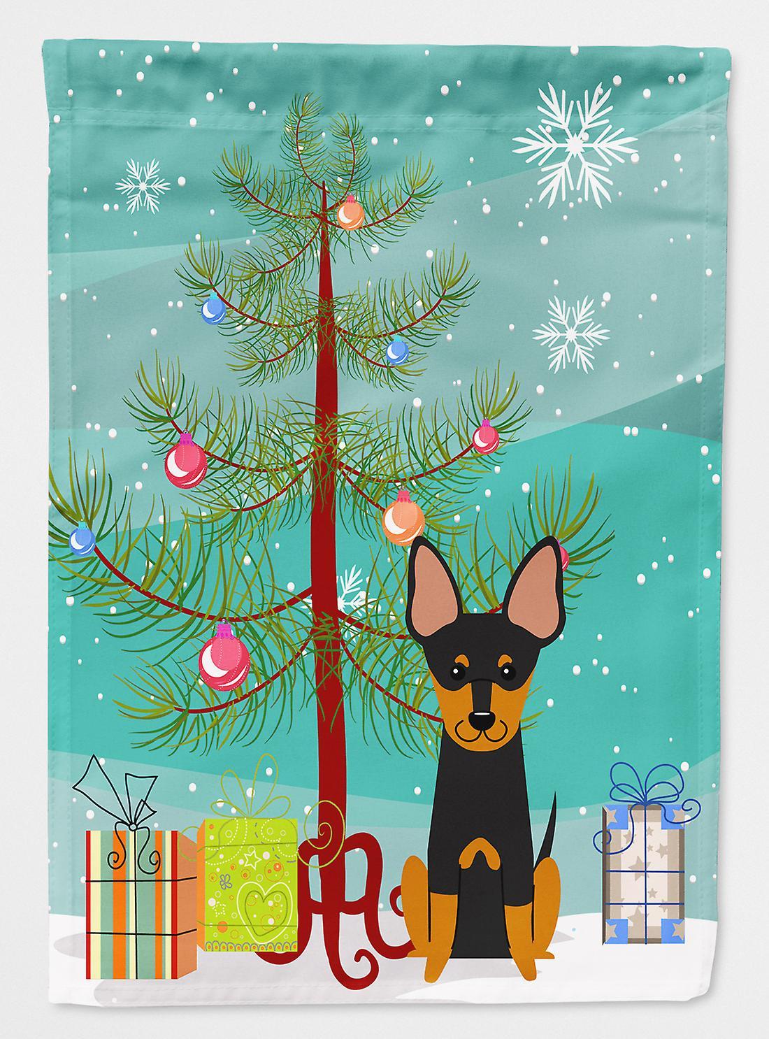 Frohe Weihnachten Englisch.Frohe Weihnachten Englisch Toy Terrier Flagge Baumgarten Größe