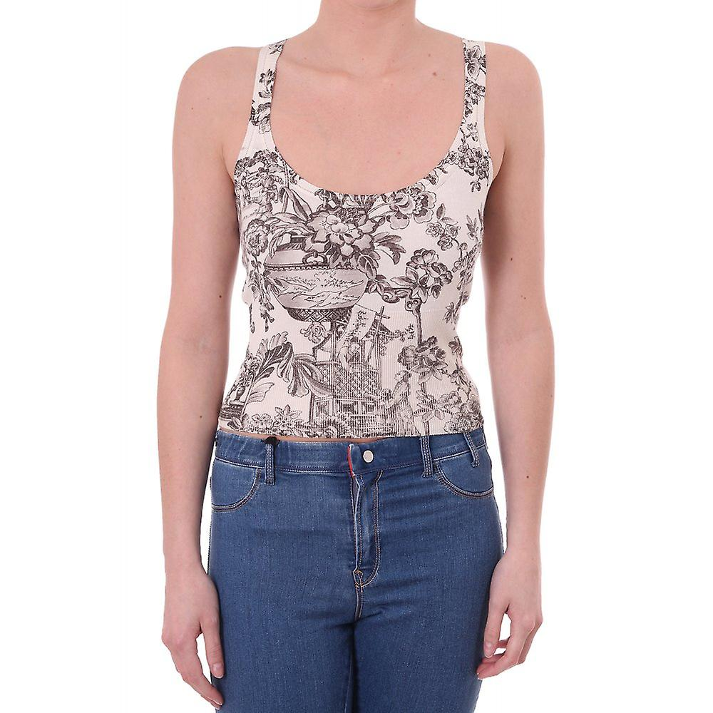 77f91a5f Paul Smith Vintage Womens Floral Knitted Floral Tank Top Paul Smith ...