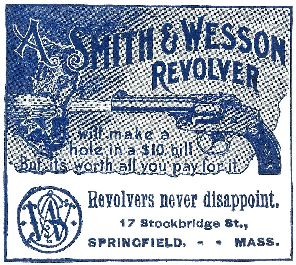 Smith & Wesson Ad 1898 Nan Advertisement For Smith And Wesson Revolvers  From An American Newspaper 1898 Poster Print by Granger Collection