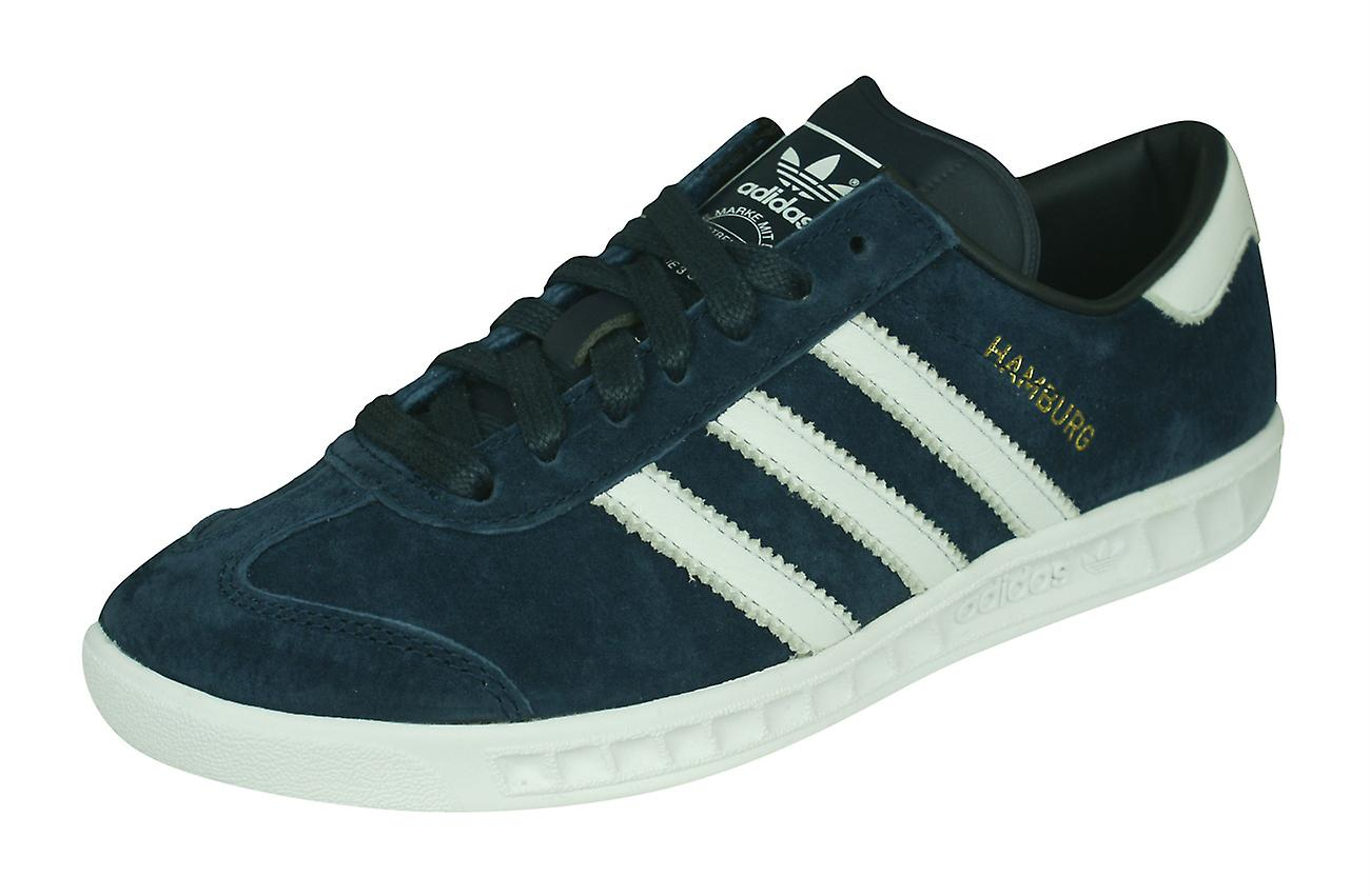 Adidas Originals Hamburg Herren Leder Trainer Schuhe Navy