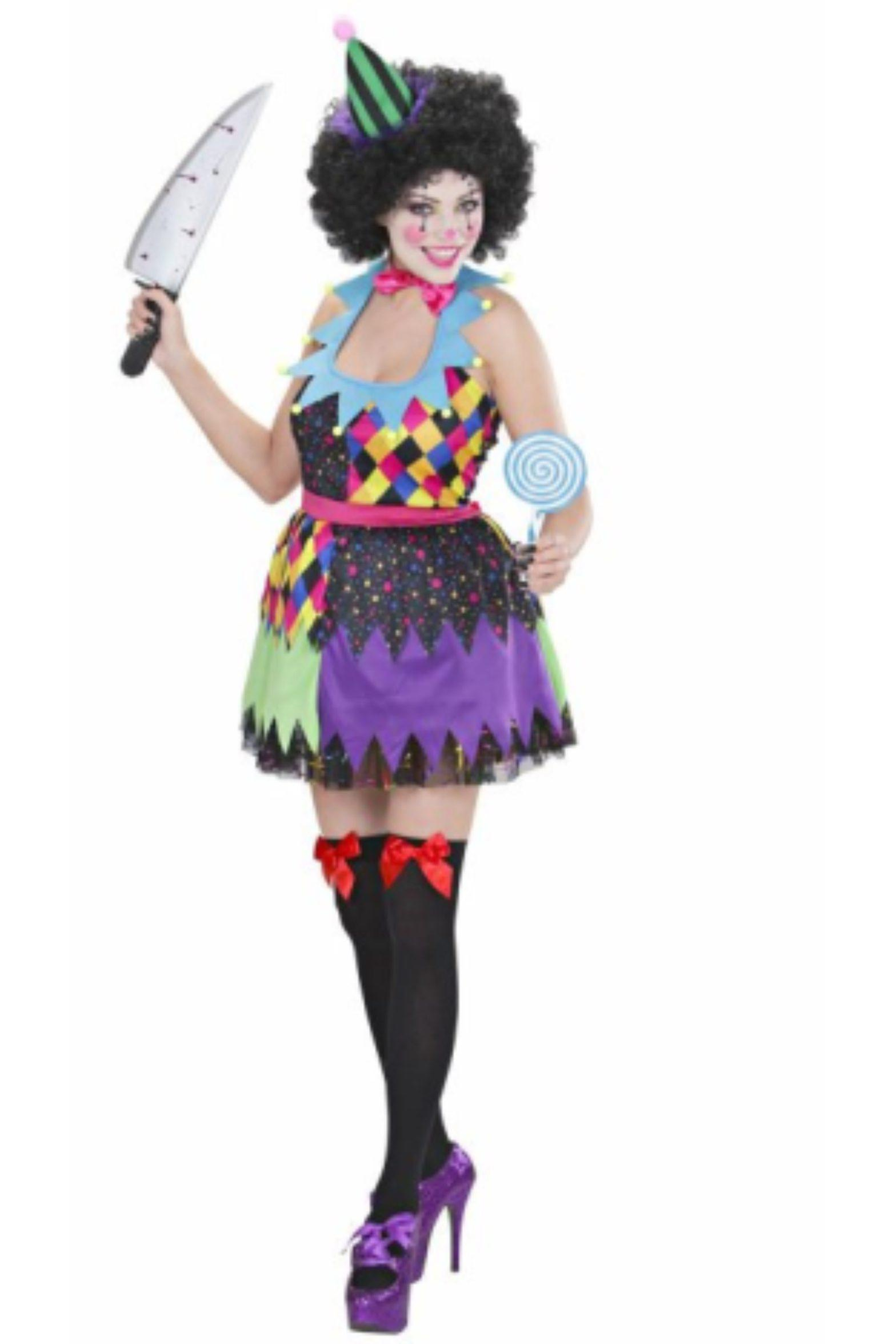 Women Costumes Women Killer Clown Girl Halloween Costume