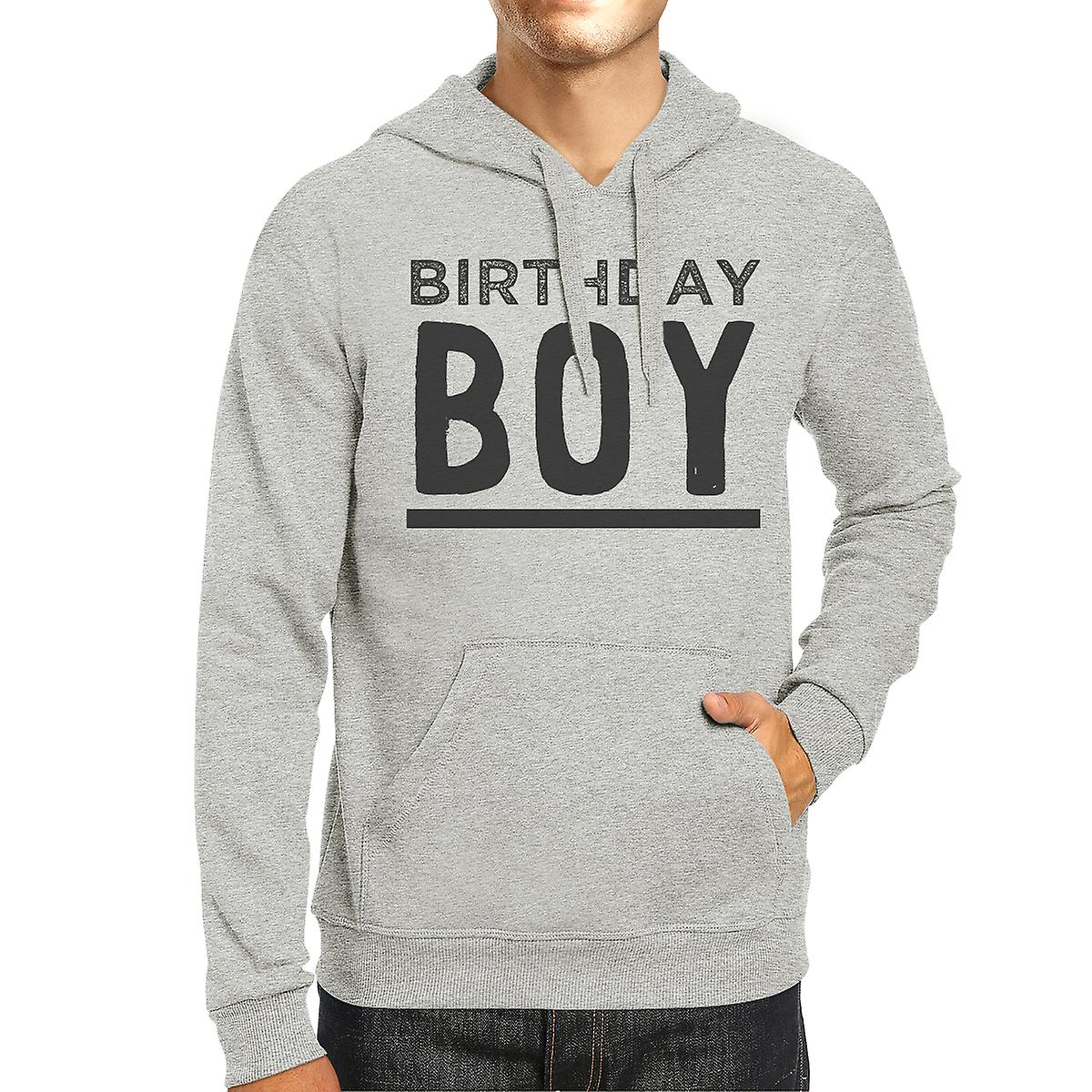 Birthday Boy Unisex Gray Hoodie Funny Shirt Gift For Him
