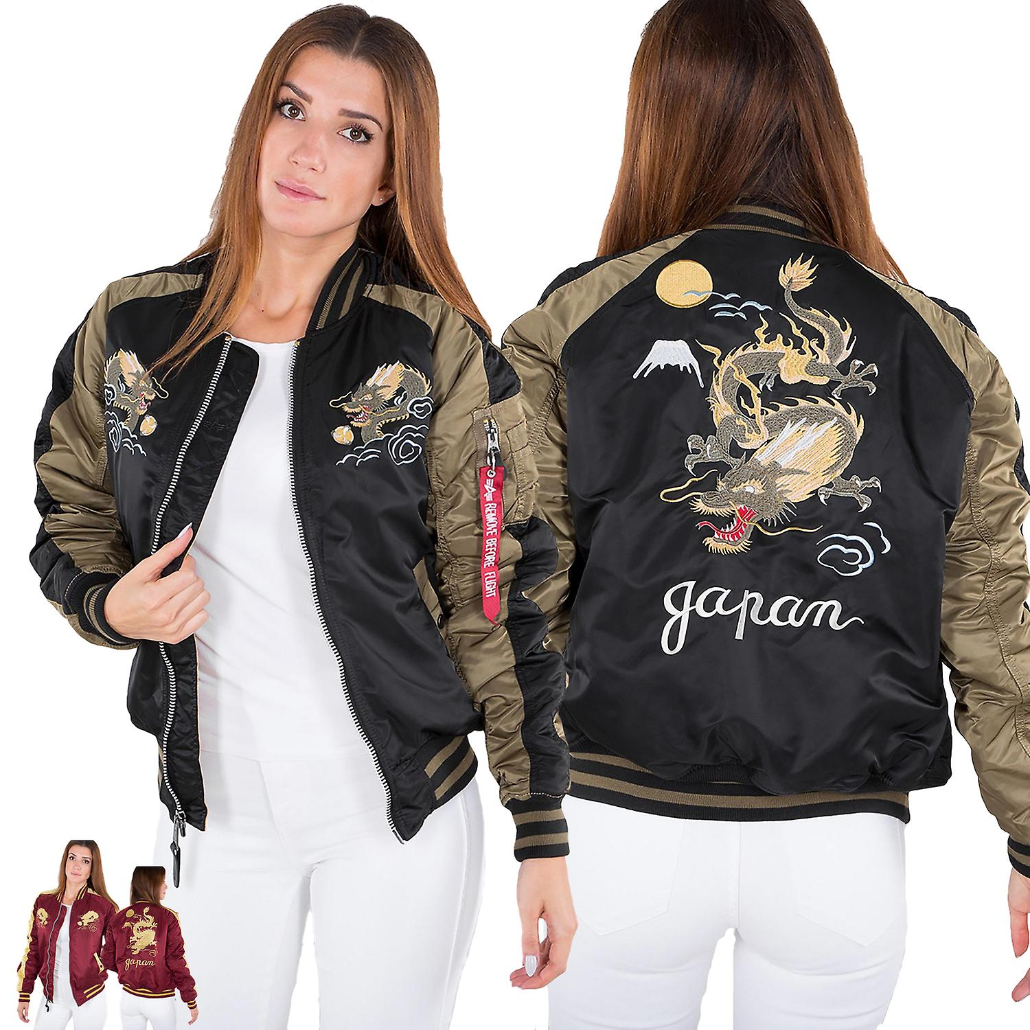 Alpha industries ladies jacket Japan Dragon Wmn