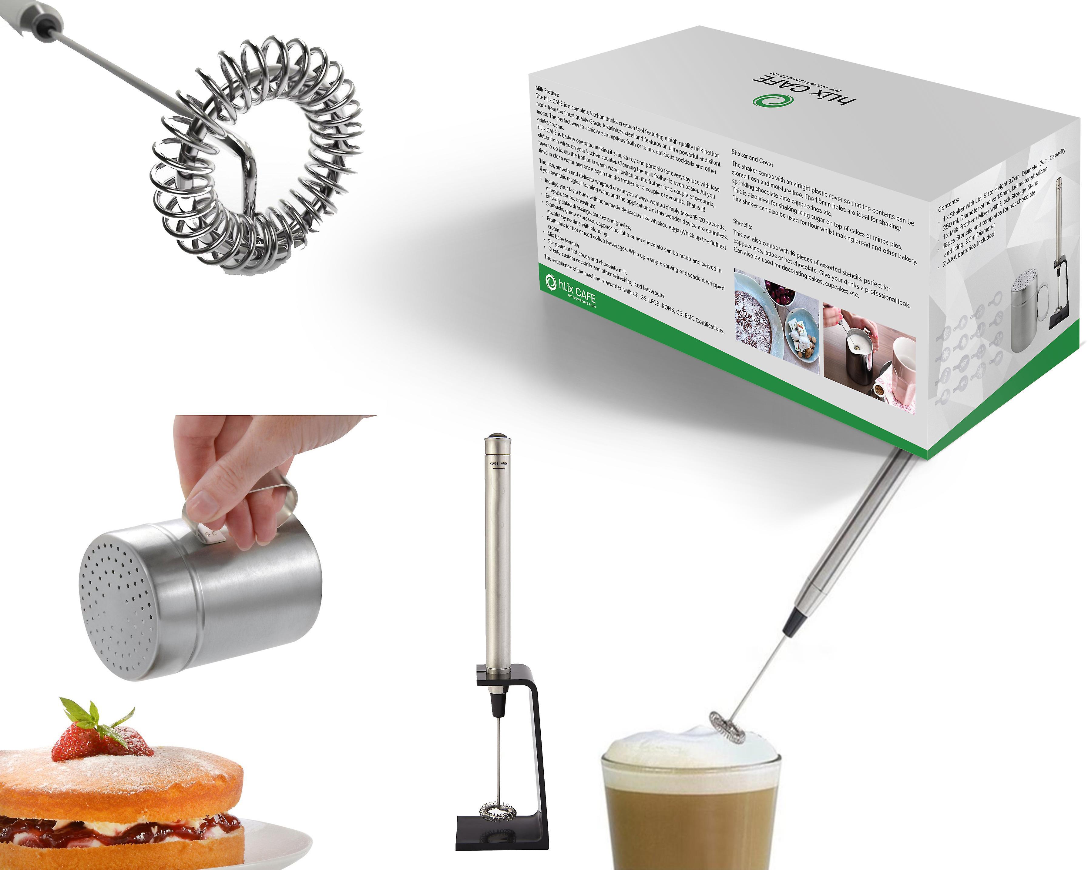 HLix CAFE - 20pcs Set mit tragbaren Milchaufschäumer / Cocktail ...