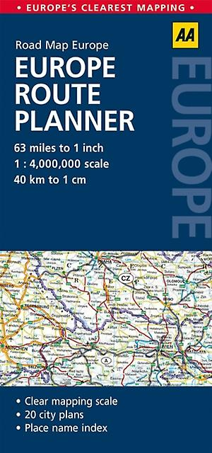 aa road map europe route planner map by aa publishing