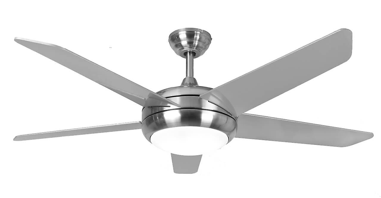 Ceiling Fan Neptune in Stainless Steel with LED Light | Fruugo