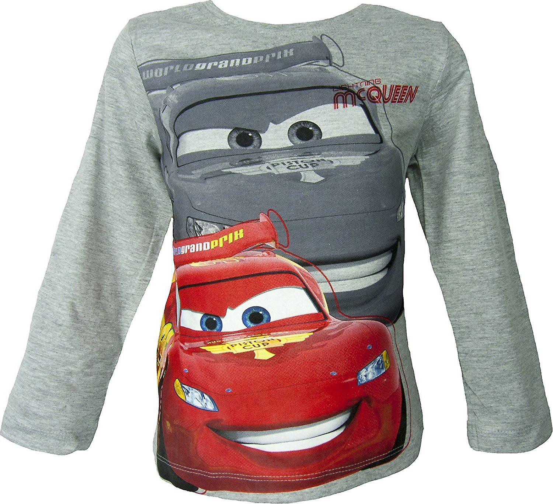 T-shirts, Polos & Hemden Isney Cars Lightning Mcqueen Langarm T-shirt Pulli Top Longsleeve Baumwolle