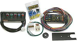 painless wiring 50005 10 circuit race only chassis harness/switch panel kit  incl  6