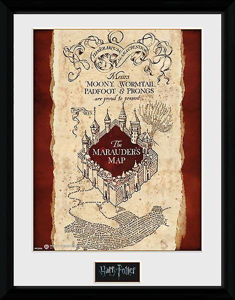 Karte Des Rumtreibers.Harry Potter Karte Des Rumtreibers Gerahmten Sammler Druck