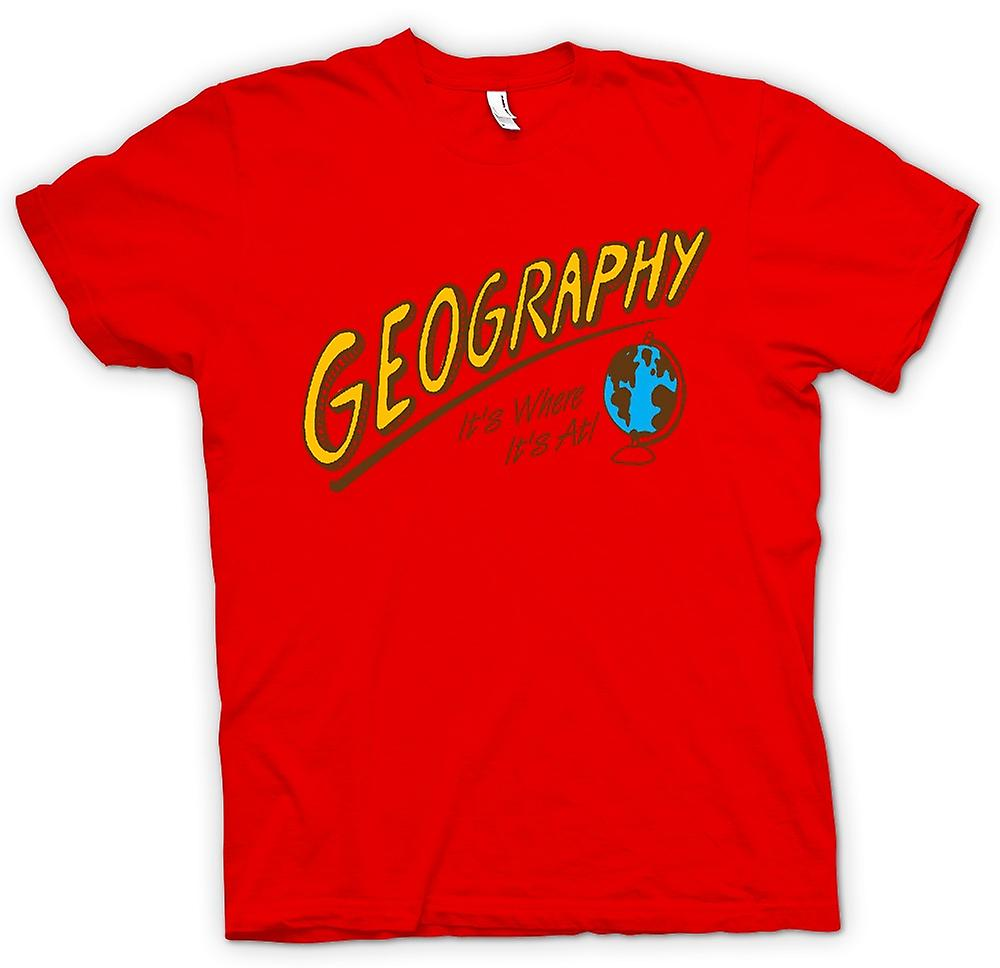 fe6446c6 Kids T-shirt - Geography Its Where Its At - Funny | Fruugo