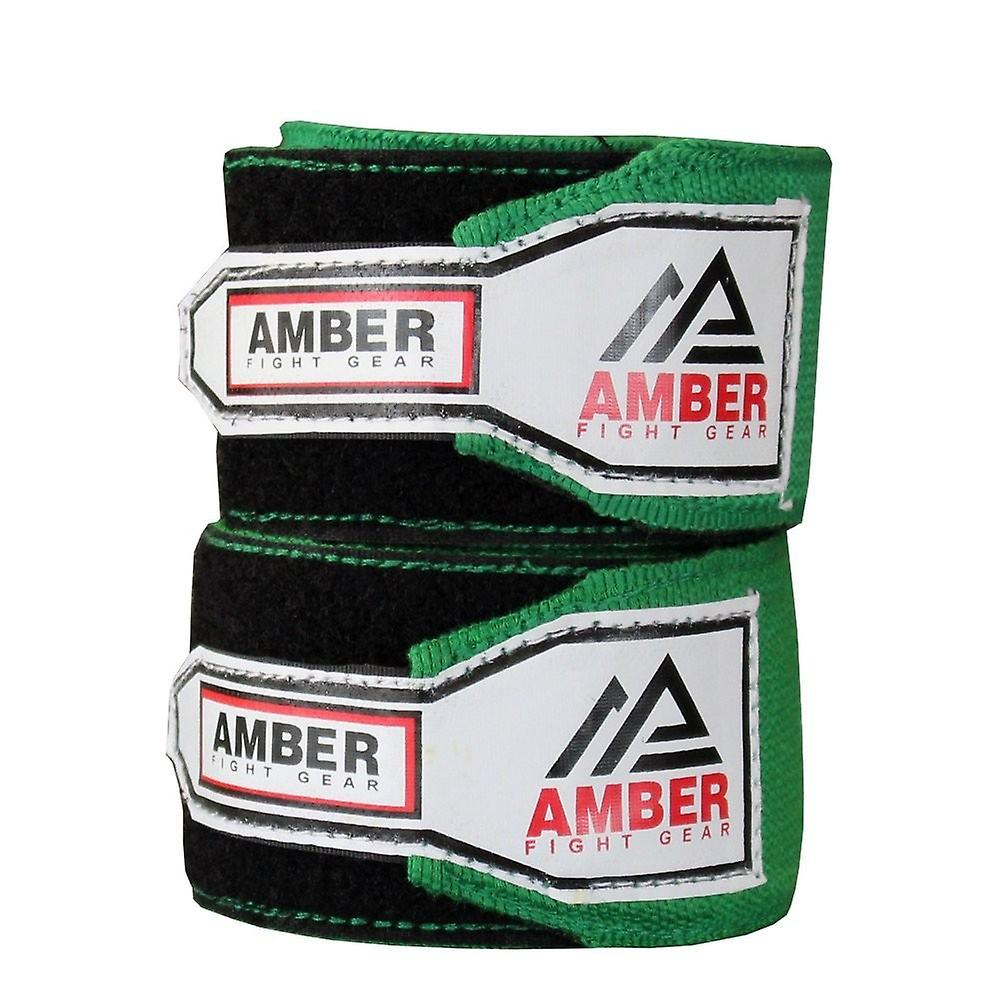 """1 Pair AMBER ~ HAND WRAPS Blue 180/"""" Boxing MMA Kickboxing"""