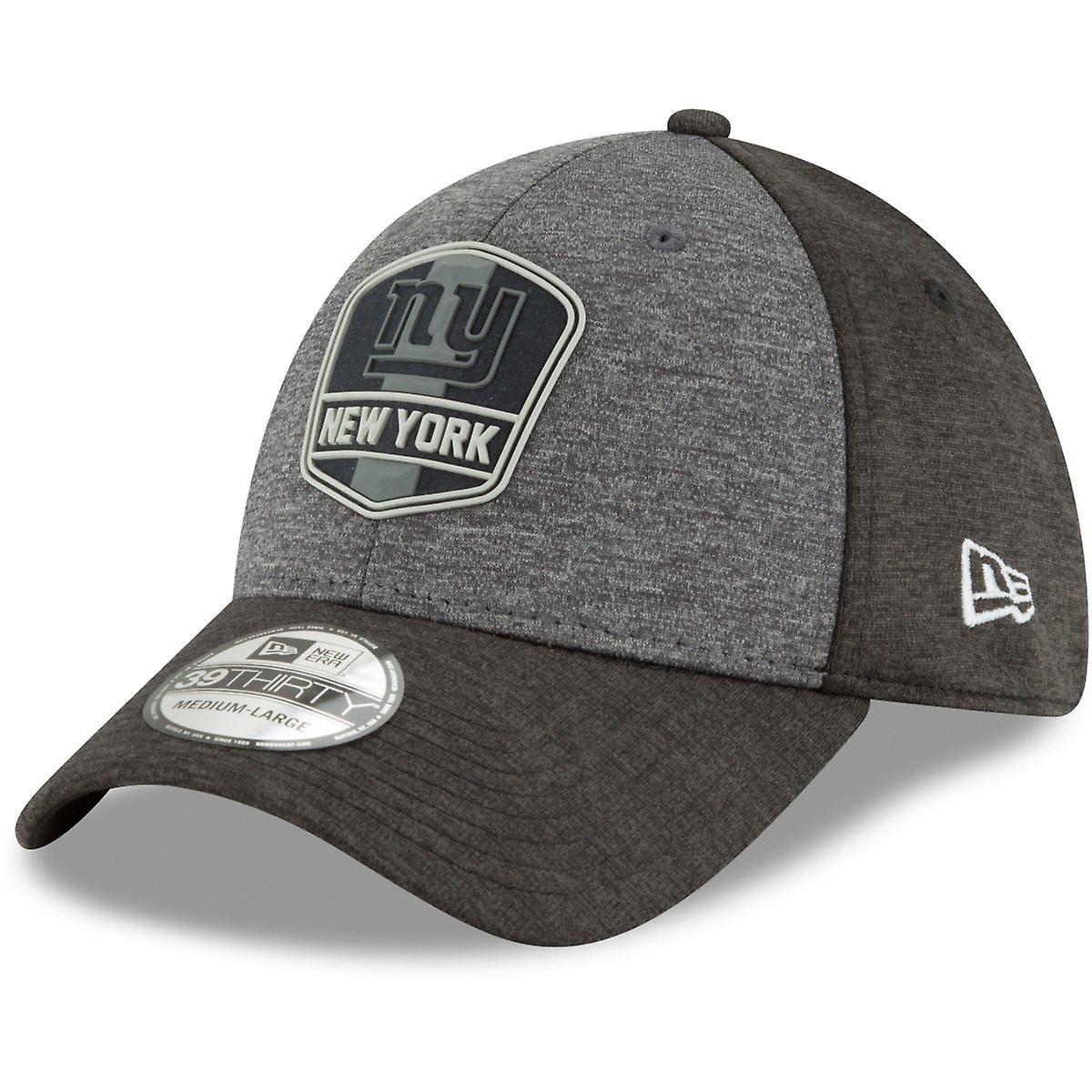 New Era 39Thirty Cap - NFL Black Sideline New York Giants ...