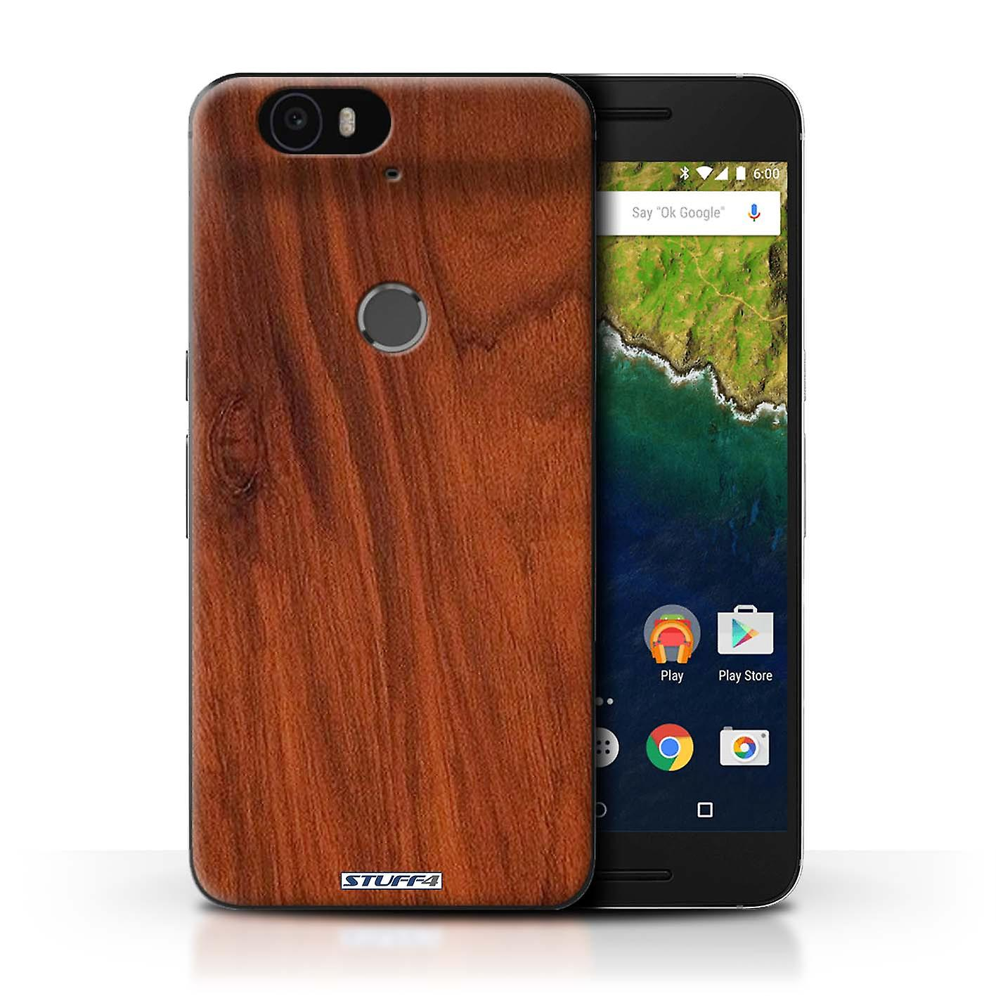 more photos 28709 eb607 STUFF4 Case/Cover for Huawei Nexus 6P/Mahogany/Wood Grain Pattern