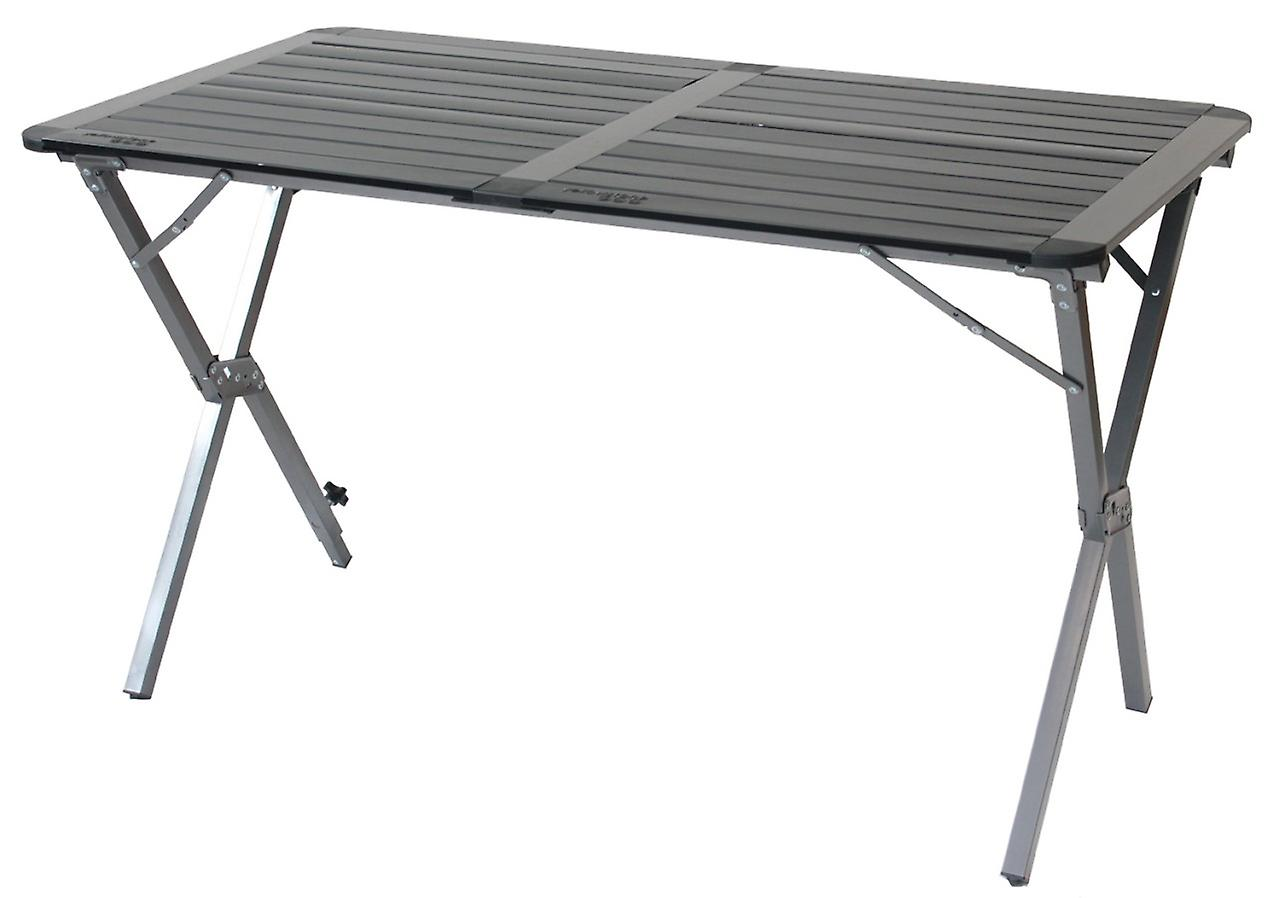 Yellowstone Aluminium Double Roll Top Camping Table Graphite