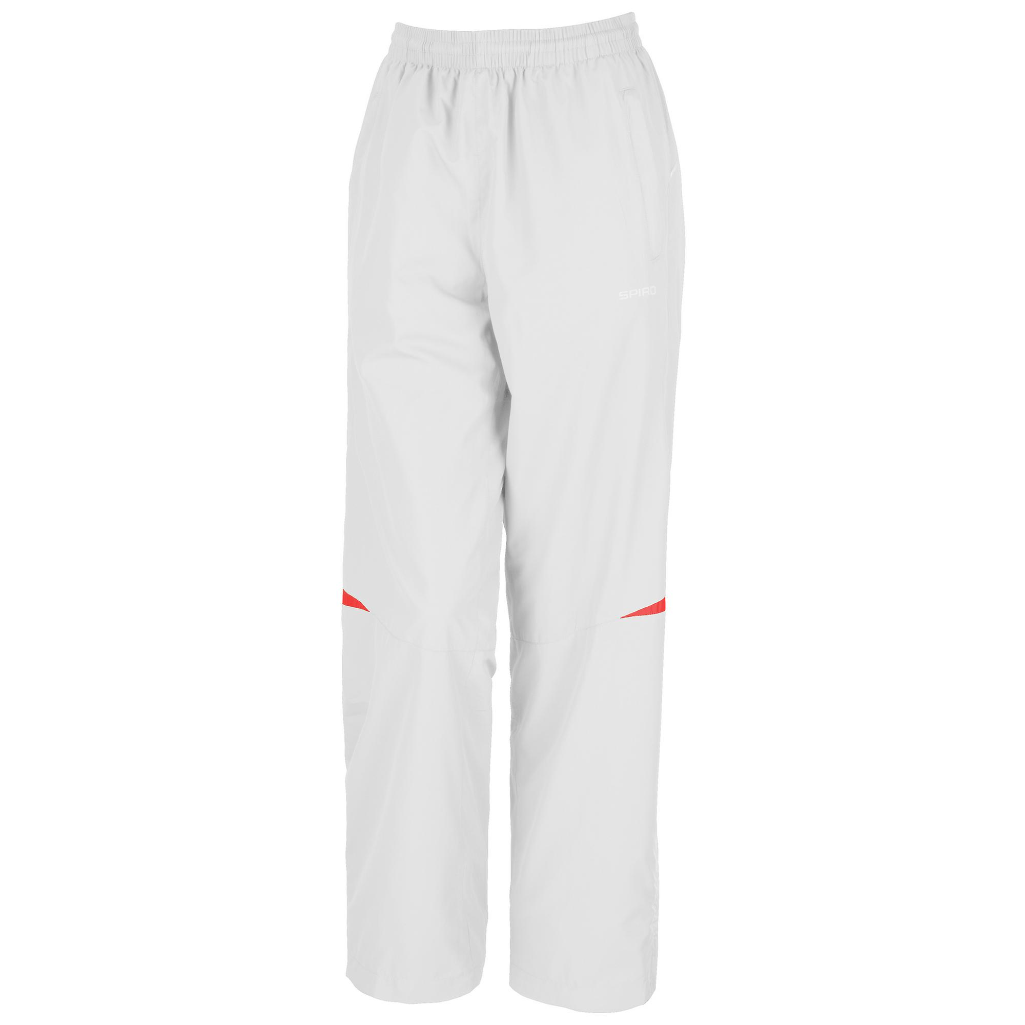Spiro Womens//Ladies Micro-Lite Performance Sports Pants Black//Red Tracksuit Bottoms XS