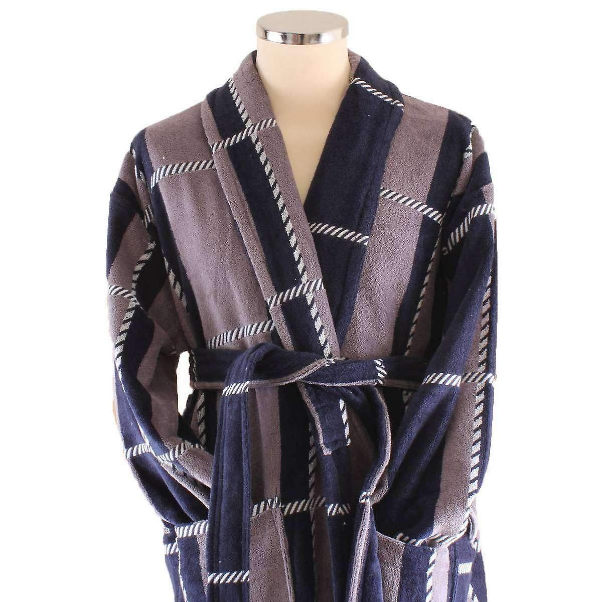 00a581d780 Bown of London Colorado Dressing Gown - Beige/Navy/White | Fruugo