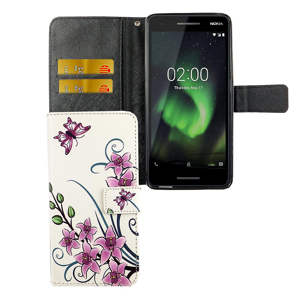 official photos 20033 10e21 Cell phone cover case for mobile Nokia 2.1 2018 Lotus Flower
