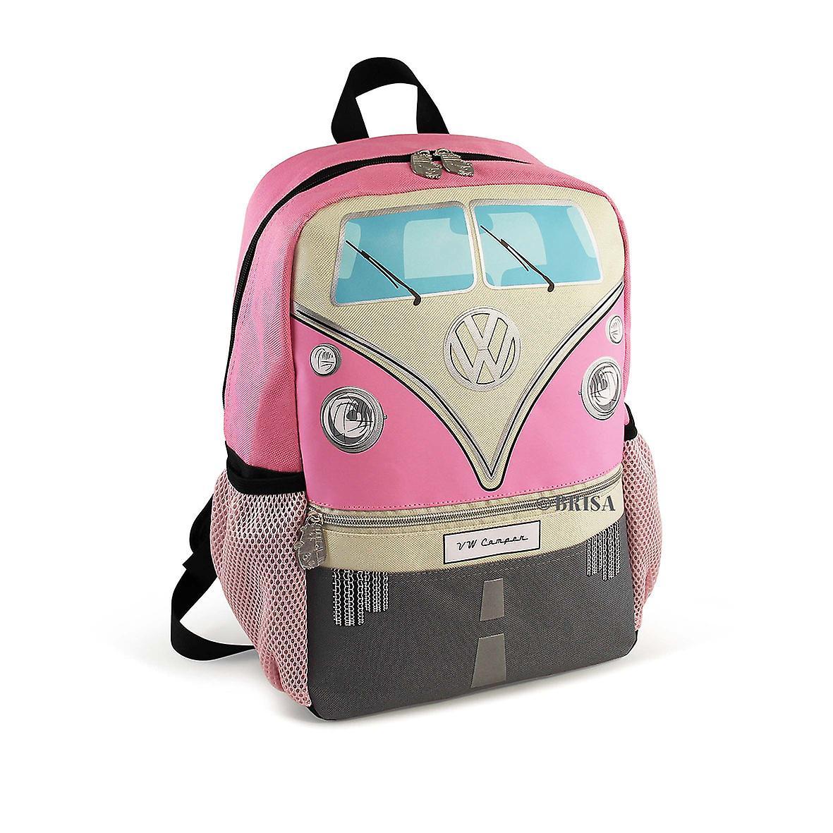 Officiella VW Camper Van barn skola ryggsäck väska - rosa  484a1a4466334