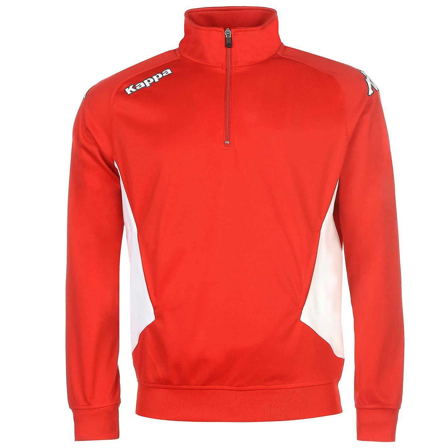 Kappa Mens Foligno Sweater Jumper Pullover Football High Neck Print Quarter Zip