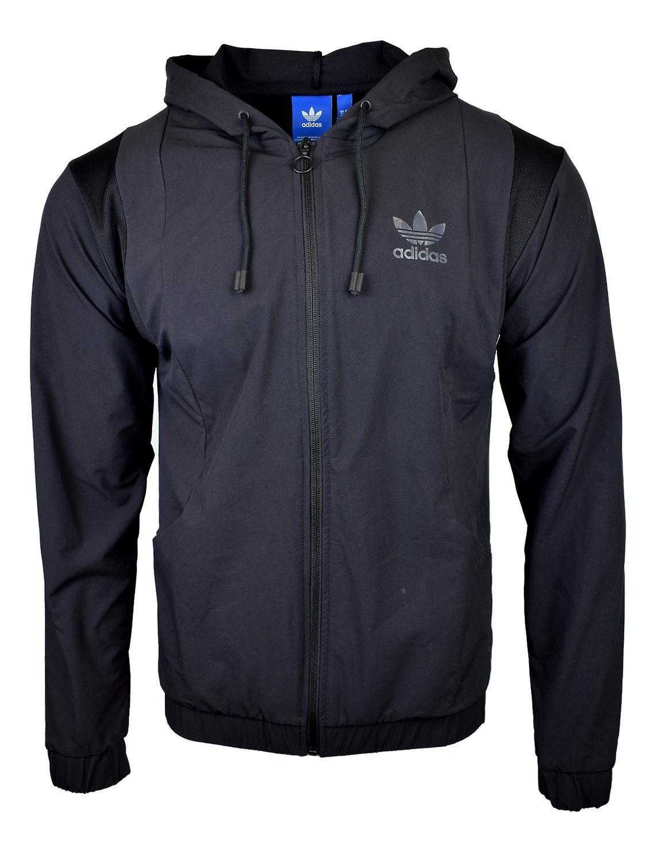 Hombre Tacto Con Adidas Capucha Negro Cremallera Para Originals wIWCqECF
