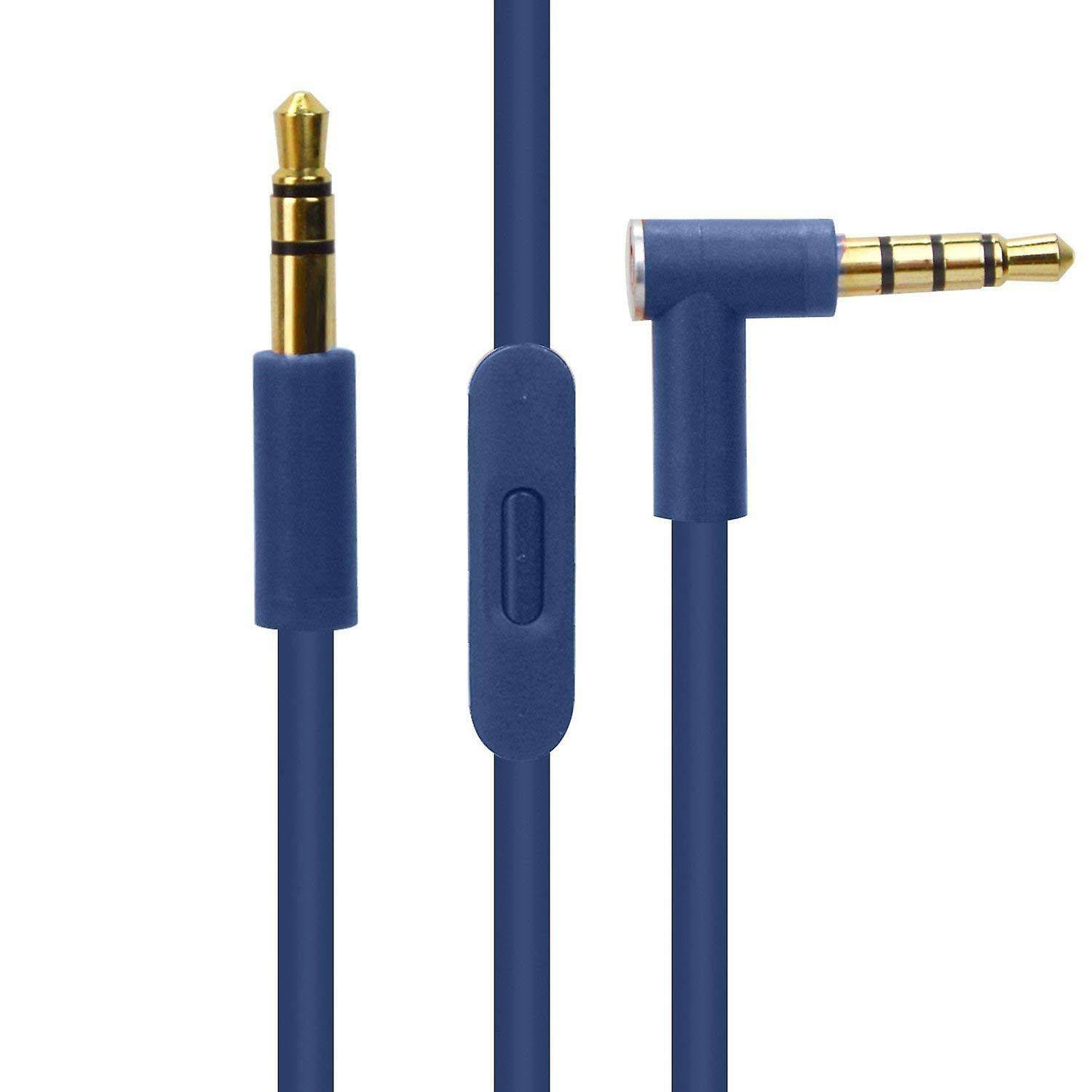 Reytid Blue Audio Cable For Beats By Dr Dre Solo2 Wireless How To Wire A Volume Switch Headphones With Inline Remote Control And Microphone Accessory Iphone Android Lead Fruugo