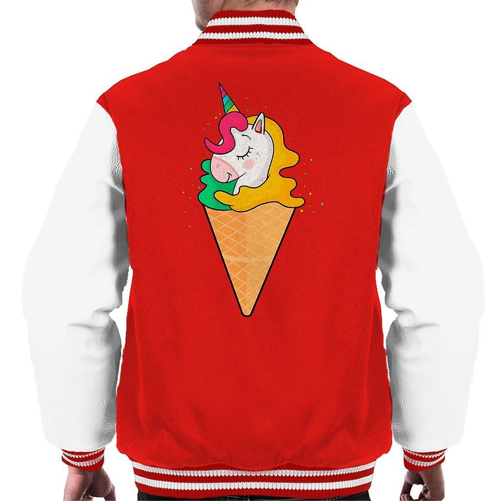 Unicorn iskrem prinsesse menn ' s Varsity Jacket