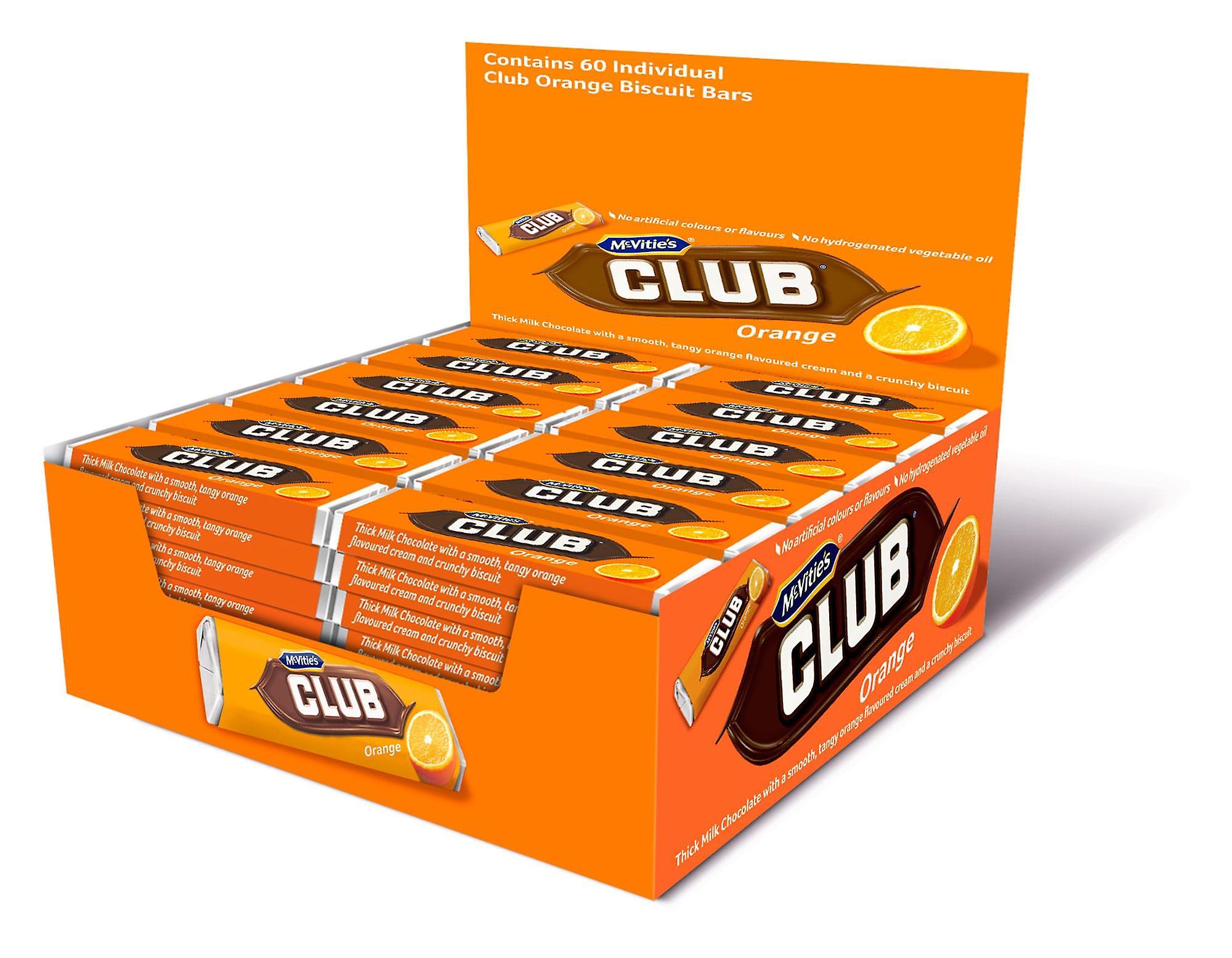 Mcvities Club Orange Chocolate Bars
