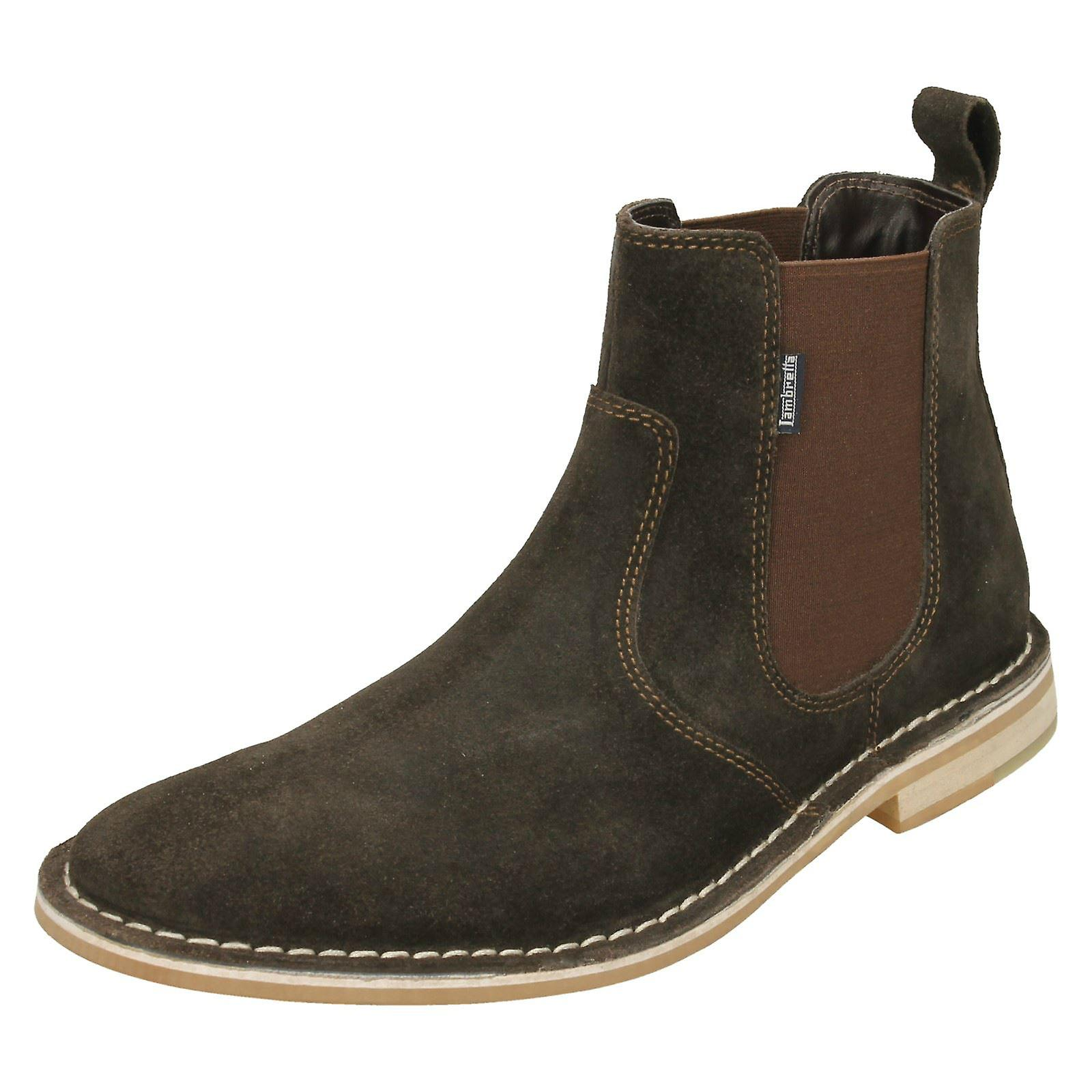 Mens Lambretta Ankle Boots Regent - Brown Suede Leather - UK Size 11 - EU  Size 45 - US Size 12