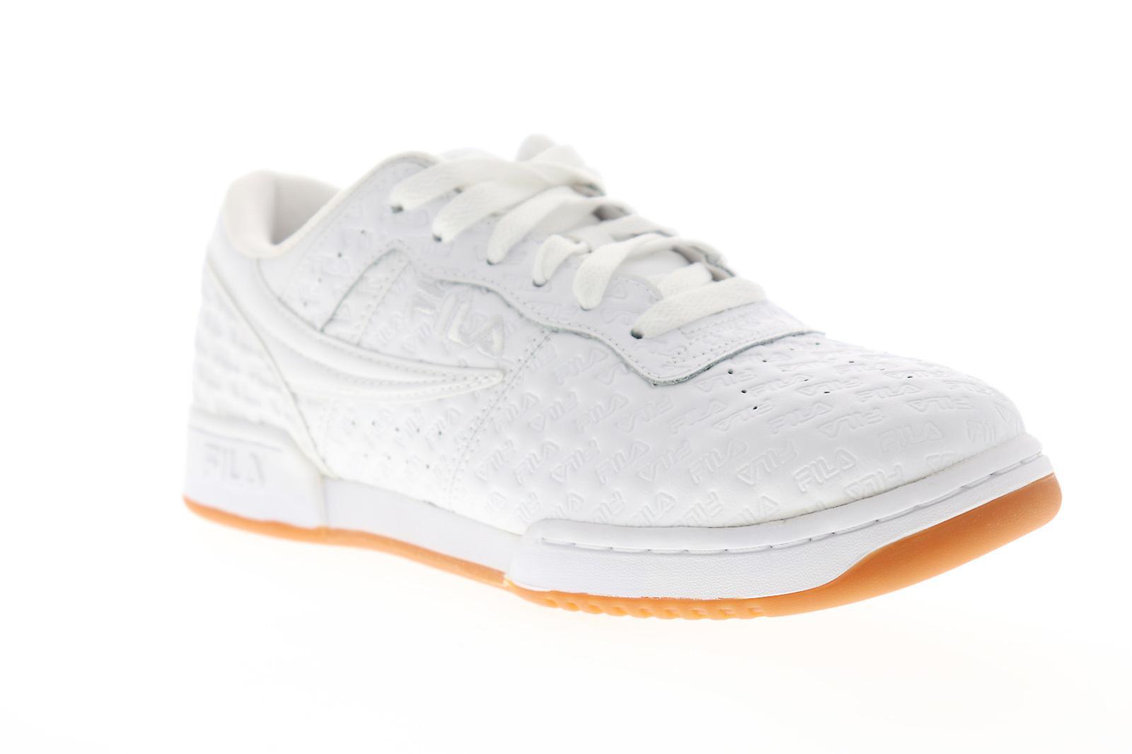 Fila original fitness små logoer menns hvit casual lav topp joggesko sko