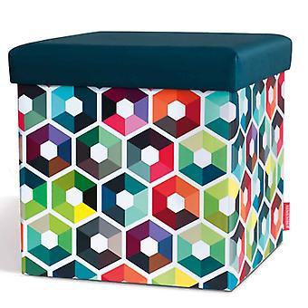 Ricordate sgabello sedile scatola esagonale 38 x 38 x 38 cm