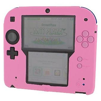 Soft silicone gel protective cover rubber bumper case for nintendo 2ds - pink