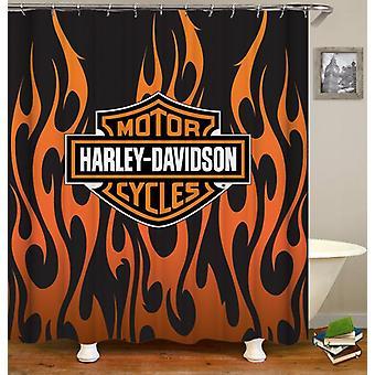 Harley Davidson Flames Shower Curtain