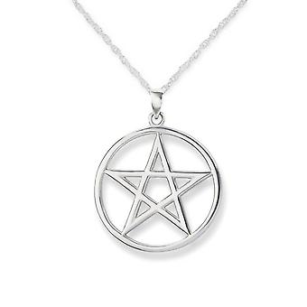 Celtic Pentagram cerc colier pandantiv-include un 16