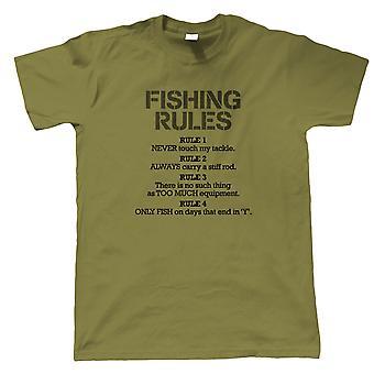 Règles de pêche Funny Mens T-Shirt, Sea Fly Carp Coarse Fish Cadeau Lui papa grand-père