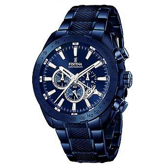 Festina F16887-1 Hombres's Reloj de pulsera multifunción Blue Dial
