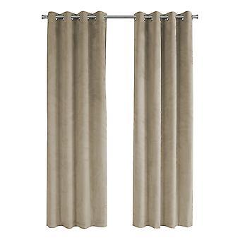 "52"" x 84"" Beige, Room Darkening - Curtain Panel 2pcs"