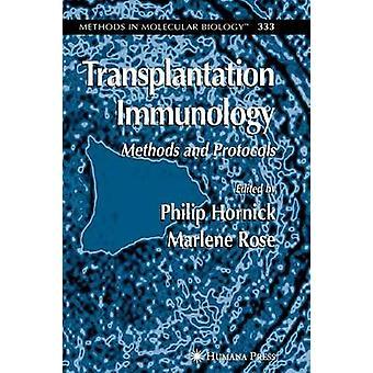 Transplantation Sanologie Methoden und Protokolle von Hornick & Philip