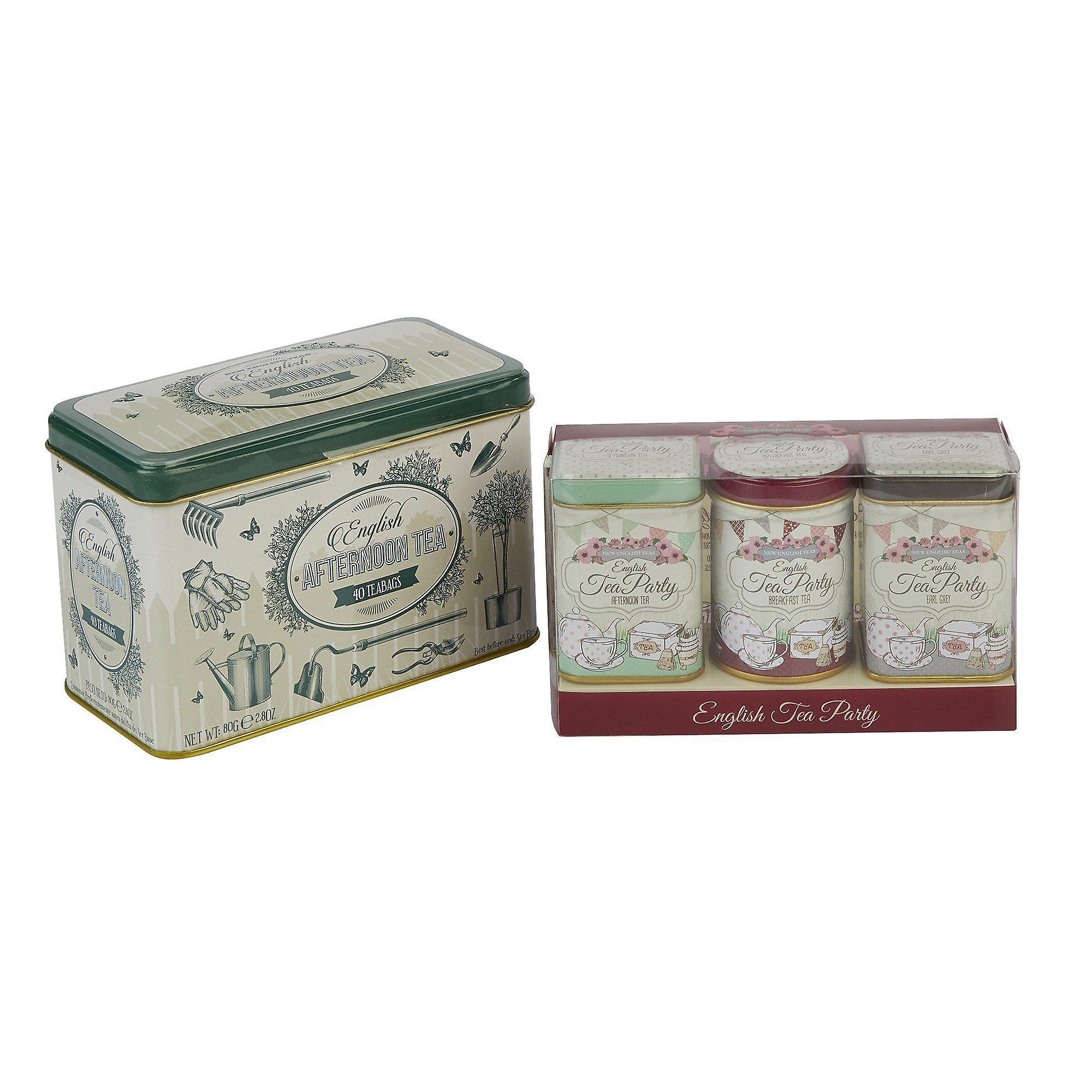 English garden party tea selection