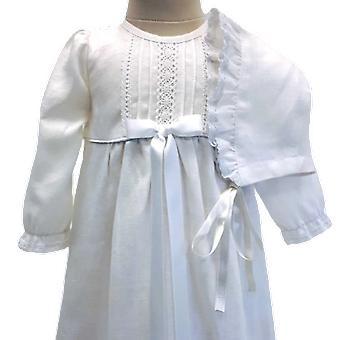 Taufen Kleid und Dophätta, weiß schlanke Rosette, Gnade von Schweden