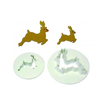 Pme Christmas Reindeer Cutter Set Of 2