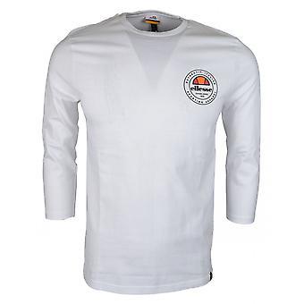 Ellesse Ristoro valkoinen puuvilla Kumilla käsitellyt Logo pitkähihainen t-paita