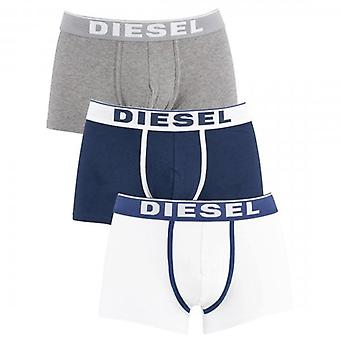 Diesel Damien 3 Pack 3 Boxer Shorts Grey, White & Navy