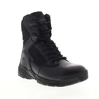 Magnum Stealth Force 8.0  Mens Black Leather Tactical Lace Up Boots Shoes