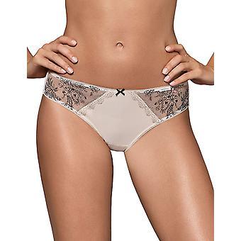 Nipplex Women's Margot Sand Beige Embroidered Knickers Panty Brazilian Brief